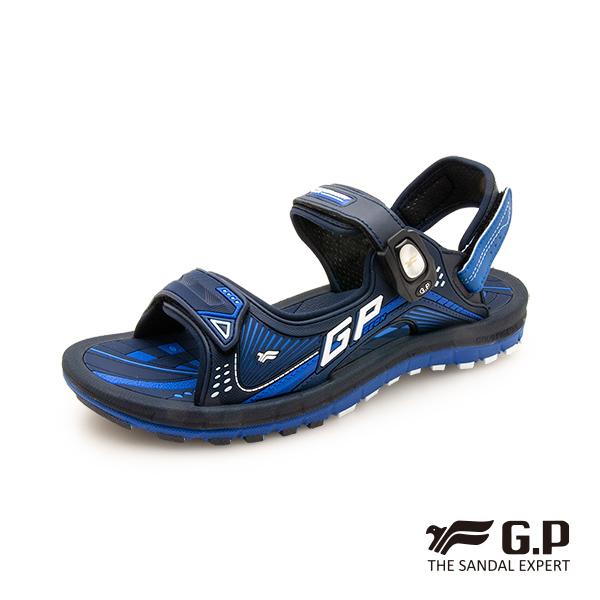 【G.P 雙層舒適緩震磁扣兩用涼拖鞋】G0791M-藍色 (SIZE:38-44 共二色)