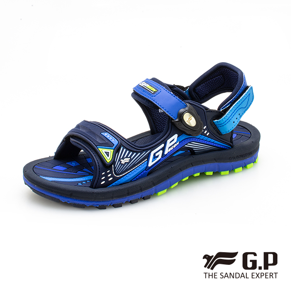 【G.P 兒童雙層舒適緩震磁扣兩用涼拖鞋】G0791BW-藍色(SIZE:33-37 共二色)