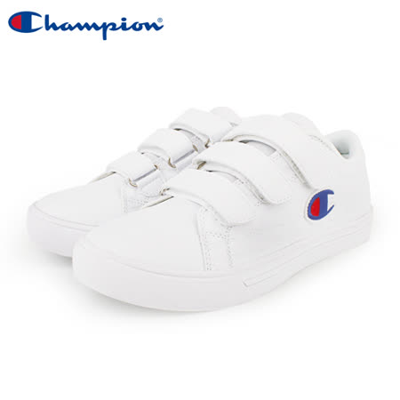 【Champion】Court Velcro Full C 魔鬼氈休閒鞋 女鞋-白(WFLS-9008-06)