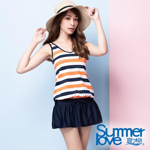 夏之戀SUMMERLOVE 大女連身裙二件式泳衣S20703