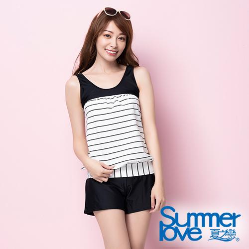 夏之戀SUMMERLOVE 大女長版三件式泳衣S20713