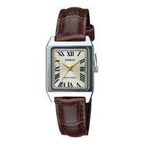 CASIO 卡西歐 指針女錶 皮革錶帶 礦物玻璃 生活防水(LTP-V007L-9B)