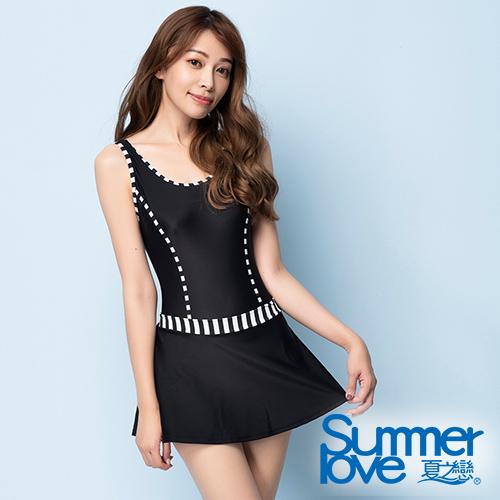 夏之戀SUMMERLOVE 大女連身帶裙泳衣 S20732