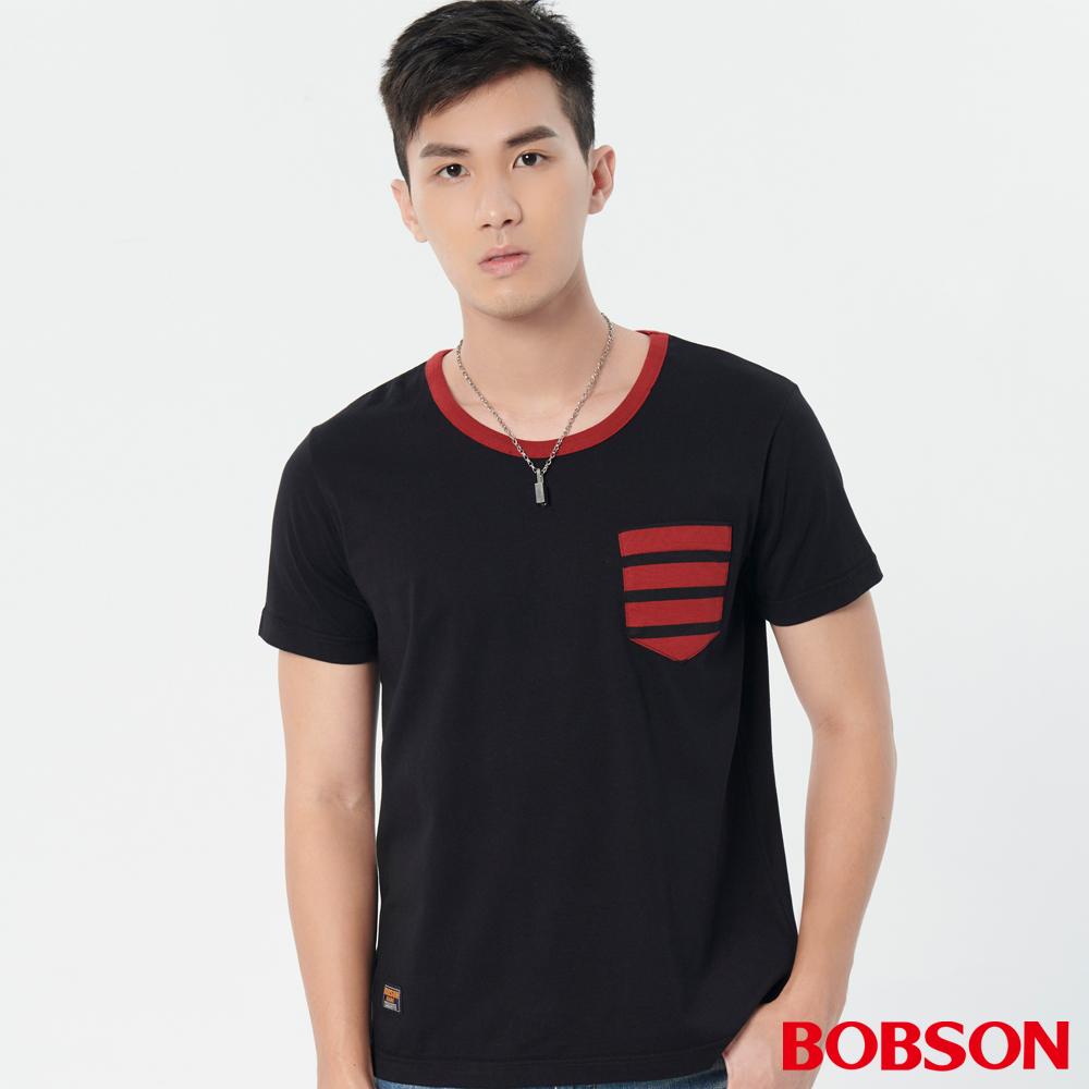 BOBSON 男款條紋貼帶上衣 (28022-88 )