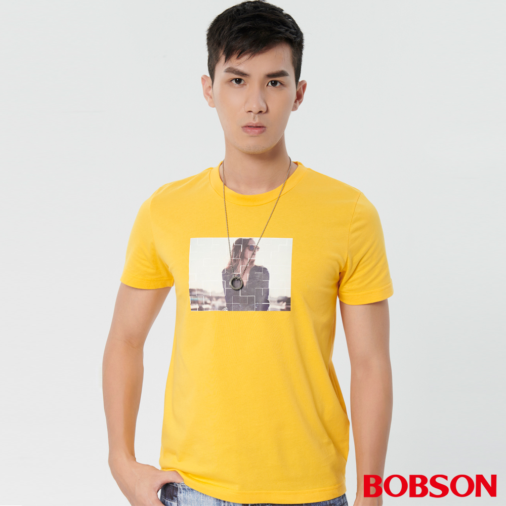 BOBSON 男款印圖上衣 (28027-30)