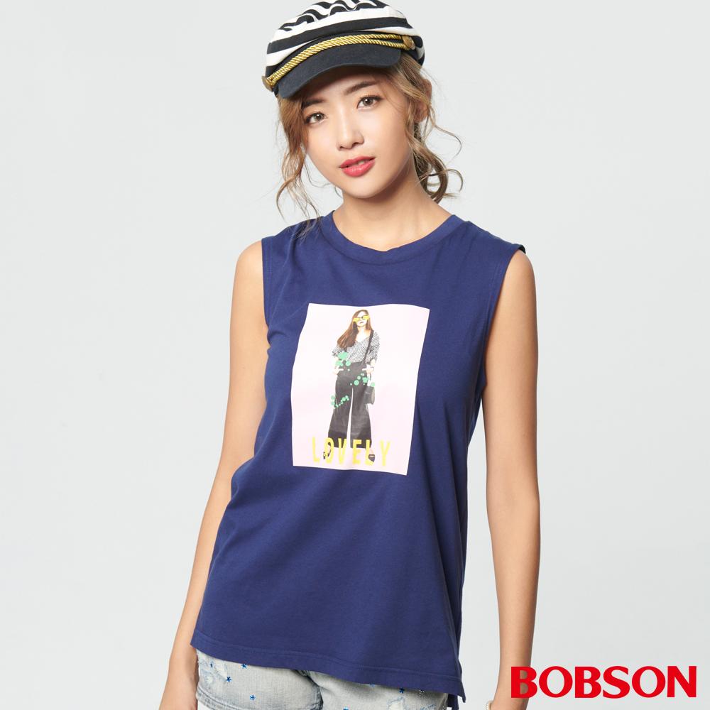 BOBSON 女款相片轉印背心 (28084-53)