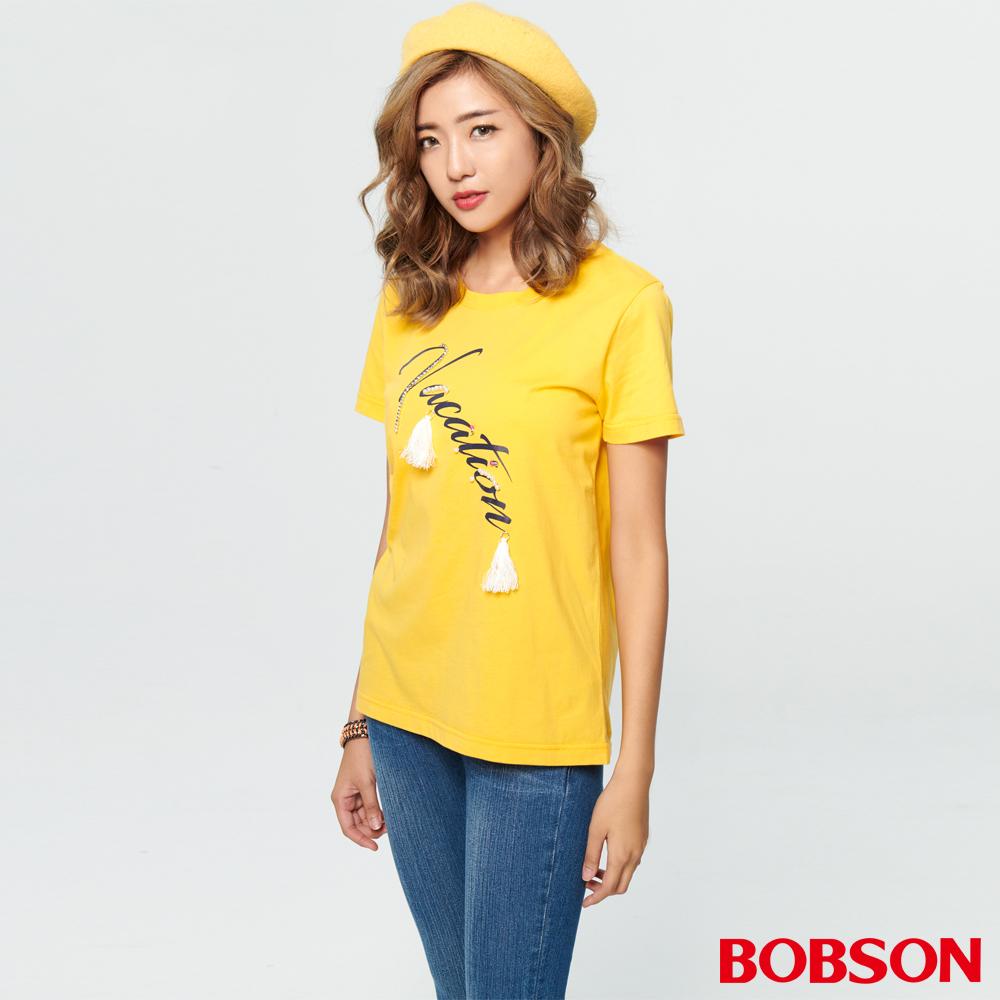 BOBSON 女款印花縫珠上衣 (28095-30 )