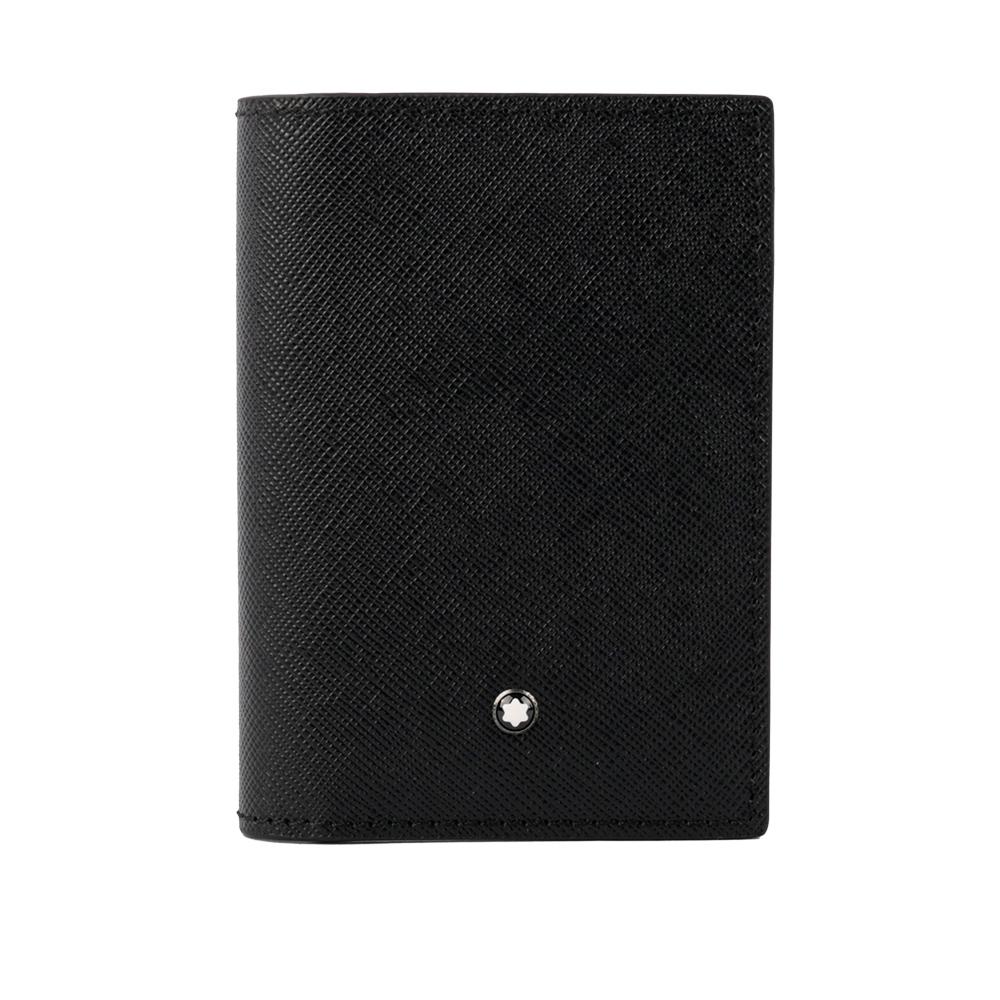 【MONTBLANC】匠心系列對開名片/卡片夾(黑/藍色) 116344