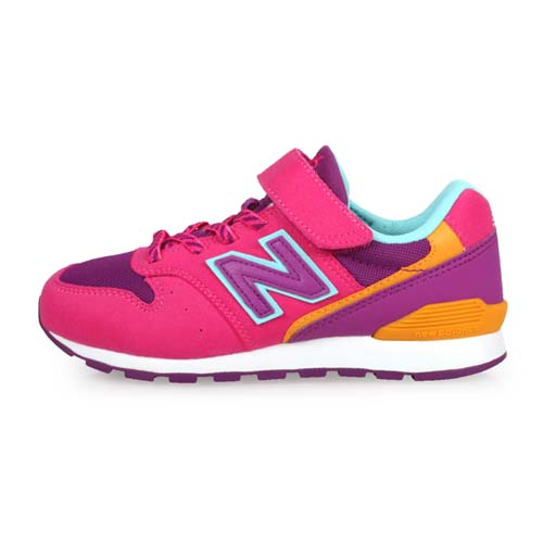 (童) NEWBALANCE 男女復古慢跑鞋-WIDE-寬楦 麂皮 NB 996 桃紅紫橘藍