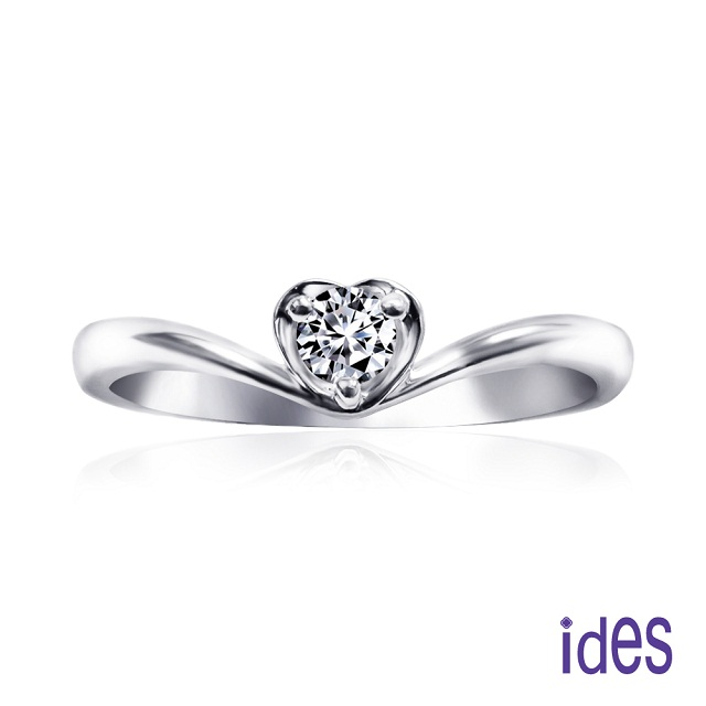 ides愛蒂思 精選12分F/VS1八心八箭完美EX車工鑽石戒指無名指尾指戒/唯美愛心