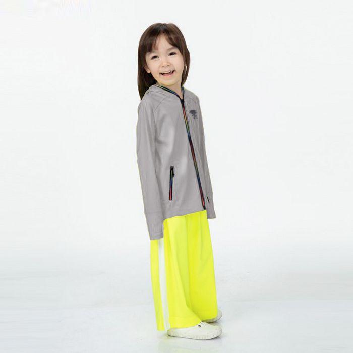 【HOII后益官方授權】兒童-多功能拉鍊外套-灰