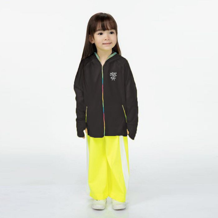 【HOII后益官方授權】兒童-多功能拉鍊外套-黑
