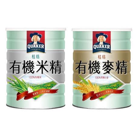 桂格 QUAKER  米精/麥精500g (兩罐入)