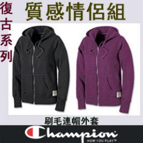 質感情侶~Champion限量刷毛外套【6771個性黑+氣質紫】˙新品上市˙復古造型