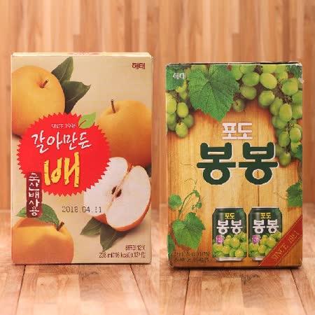 韓國 果肉果汁1盒(口味任選)