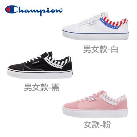 Champion 男女款 U-C 旗幟帆布鞋