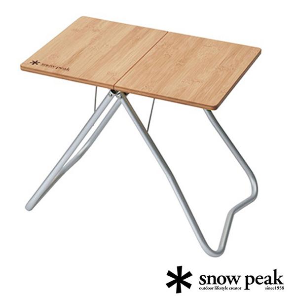 【日本 Snow Peak】個人快速竹折桌(附收納袋).料理桌.置物桌.折疊桌.原木桌/LV-034TR
