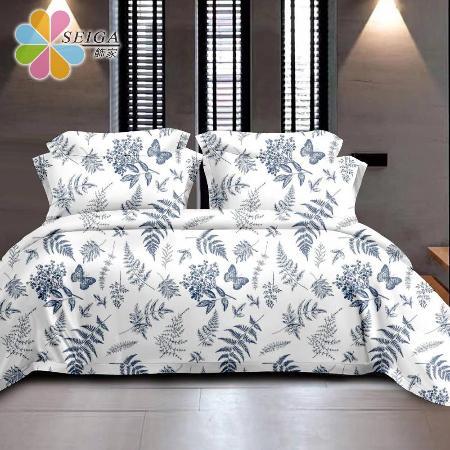 Seiga台灣製 絲柔棉床包枕套組