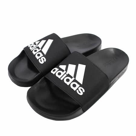 ADIDAS  男女經典logo涼拖鞋