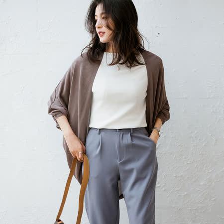 冰絲七分袖針織罩衫(共六色)M-XL