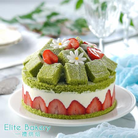 一禮烘培 京都抹茶草莓蛋糕6吋