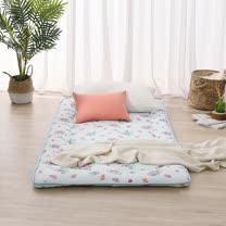 LAMINA 和風花繪日式床墊5cm-藍(單人)