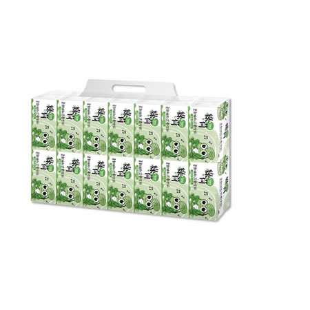 綠荷柔韌抽取式花紋 衛生紙150抽X84包