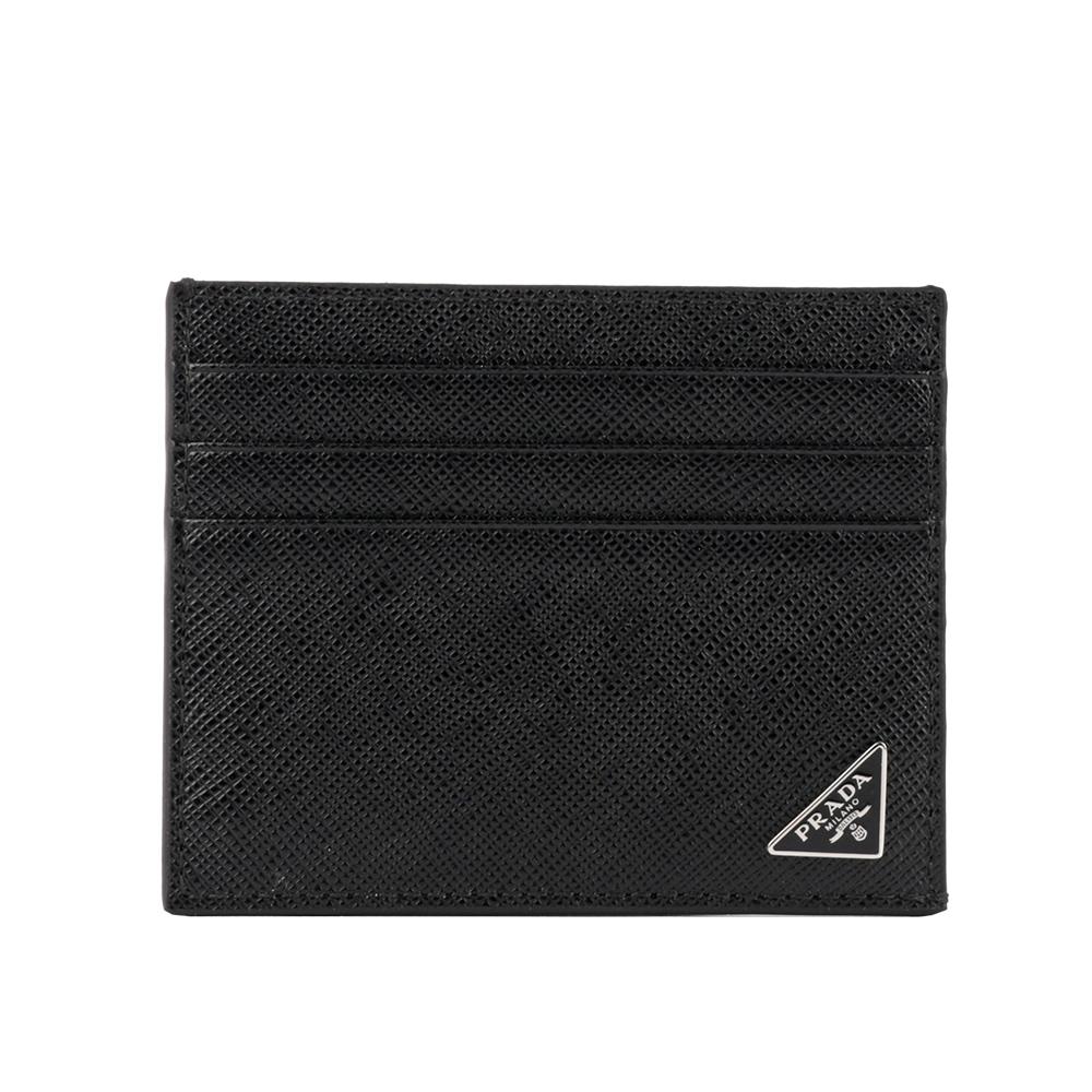 【PRADA】三角牌logo卡片/名片夾(黑色) 2MC223 QHH F0002