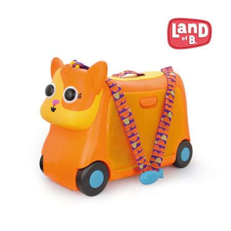 美國B.Toys感統玩具 菠蘿貓胖咪行李箱
