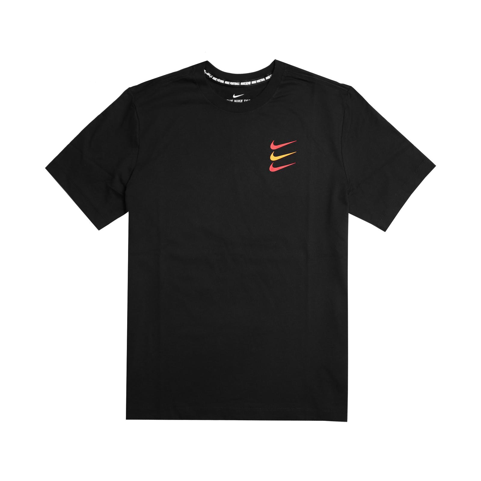 Nike T恤 FC Football T-Shirt 男款 足球 運動休閒 圓領 棉質 三勾 基本款 黑 紅 CT8432010 CT8432-010