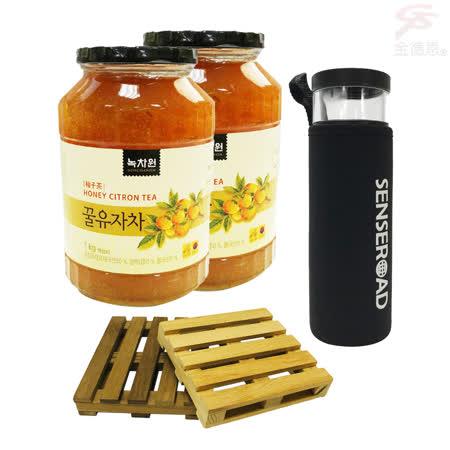 韓國 沖飲柚子蜂蜜茶x2瓶