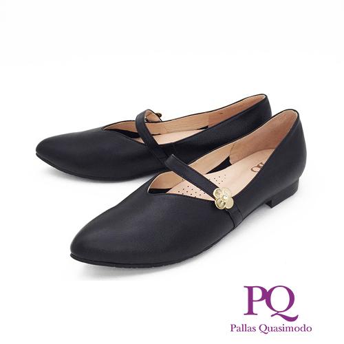 PQ (女)經典復古瑪麗珍鞋 平底鞋 娃娃鞋 - 黑