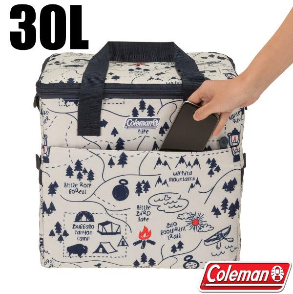 【美國 Coleman】30L露營地圖軟式保冷袋.保冰袋.保溫袋.行動冰桶.保冰保鮮/CM-33433