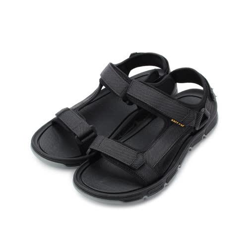 LOTTO 城市輕履 織帶運動涼鞋 黑 LT0AMS1670 男鞋 鞋全家福