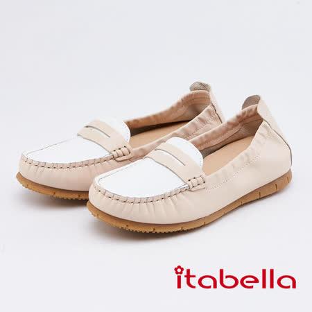 itabella 真皮雙色休閒鞋