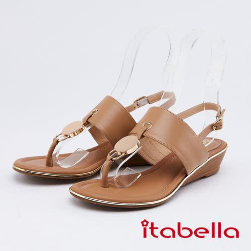 itabella..女神風采-時尚夾腳涼鞋(0317-30棕色)