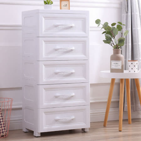 42面寬歐風 純白無印五層收納櫃