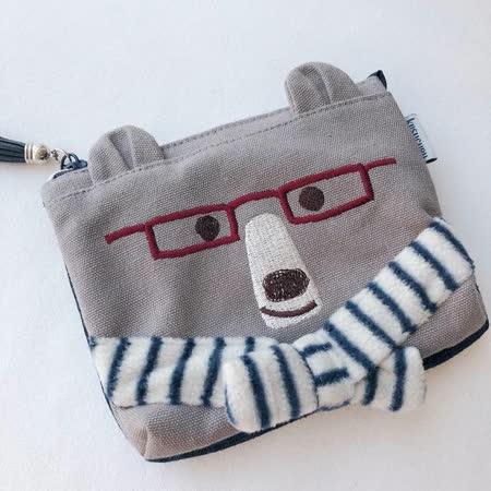 日本 kusuguru 眼鏡熊多層格萬用收納包