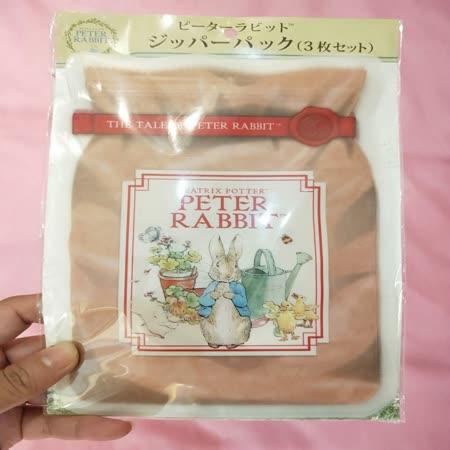 日本郵局限定 彼德兔萬用夾鍊袋(3枚入)