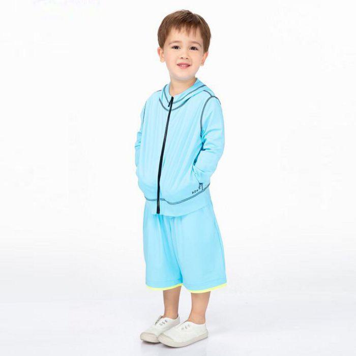 【HOII后益官方授權】字母運動休閒短褲-兒童-藍