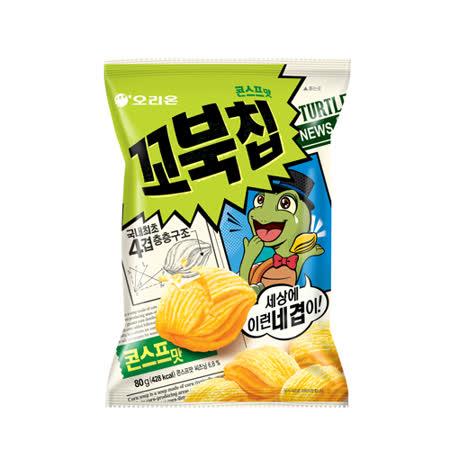 【好麗友】 烏龜玉米脆片80G / 2入