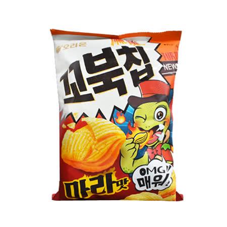 【好麗友】烏龜 玉米脆片 80G-麻辣