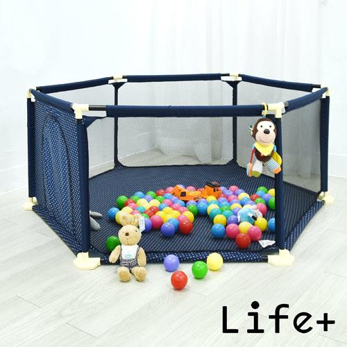 【Life Plus】兒童安全防護圍欄/遊戲床 (加大款)+兒童防護門欄/寵物門欄
