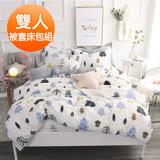 J-bedtime 台灣製雙人四件式特級純棉被套床包組-慕光森林