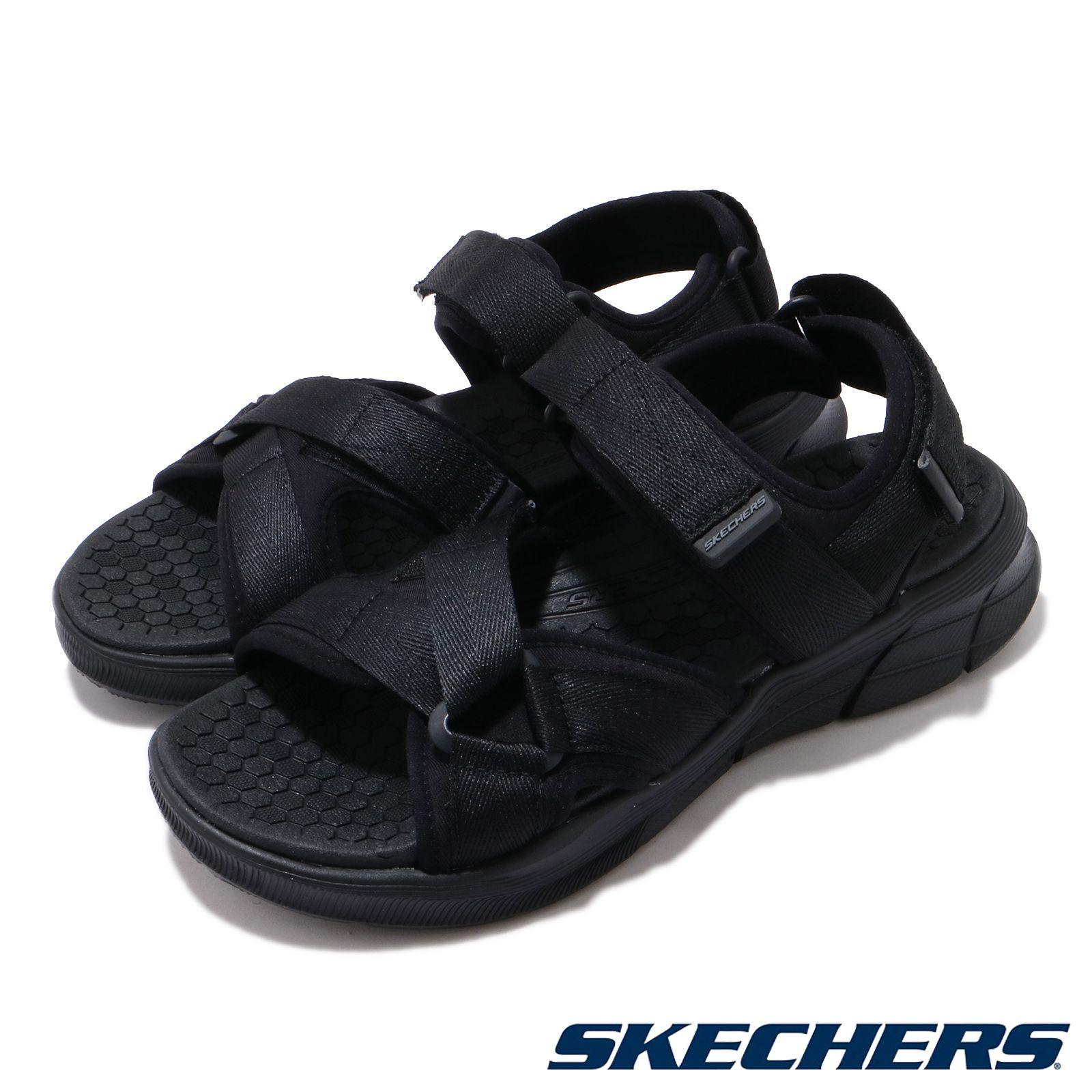 Skechers 涼拖鞋 Equalizer 4 Sandal 男鞋 運動休閒 踏青 魔鬼氈 可調 夏日必備 黑 237050BBK 237050BBK