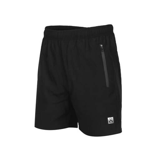 (男) FIRESTAR 彈性平織短褲-慢跑 路跑 運動短褲 五分褲 反光 黑銀
