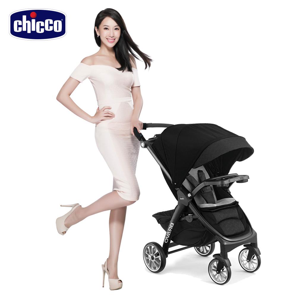 【贈好禮】chicco-Bravo極致完美手推車限定版-晶墨黑