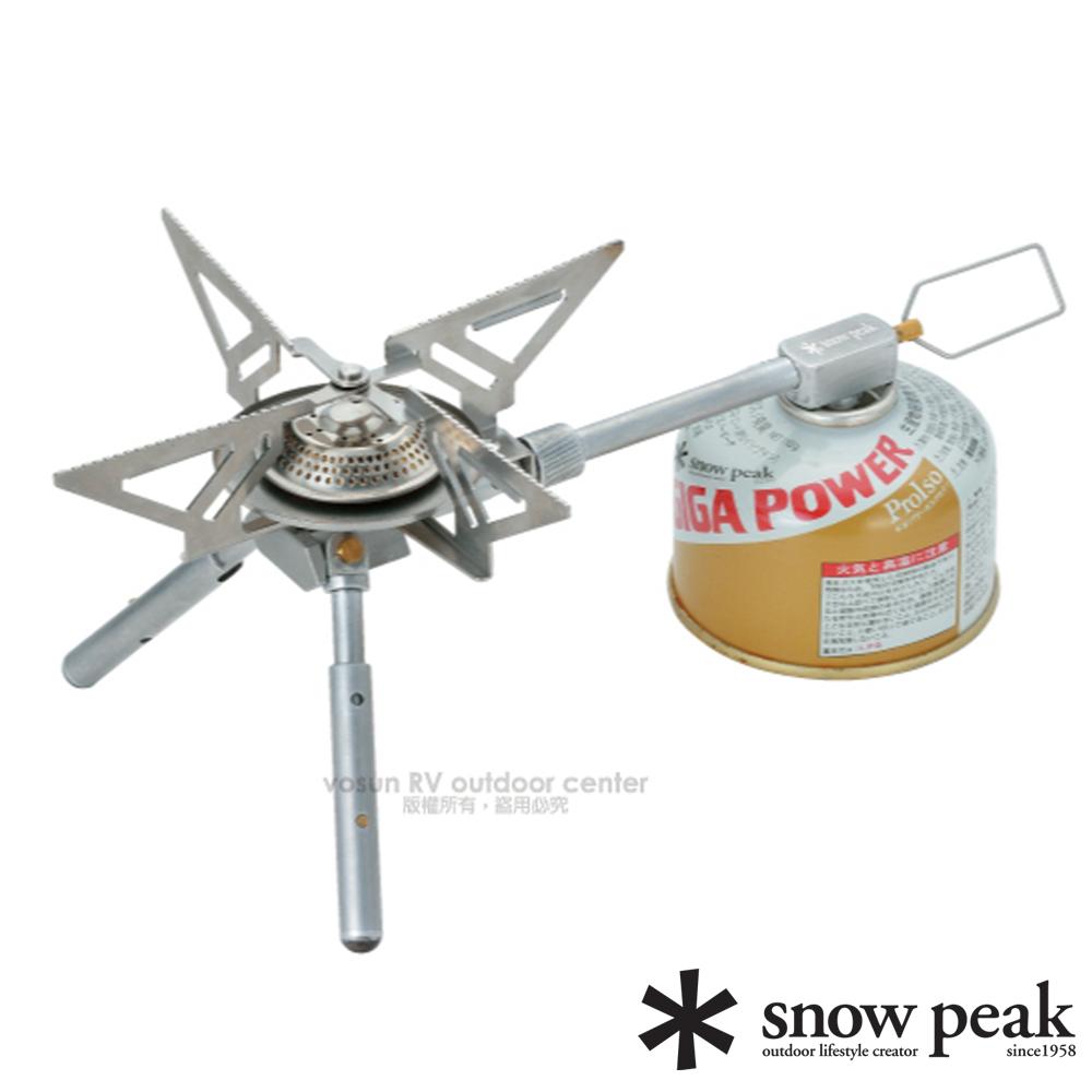 【日本 Snow Peak】輕量不鏽鋼安定爐 LEGY(大火力2900kcal/h).攻頂爐.高山瓦斯爐/GS-370