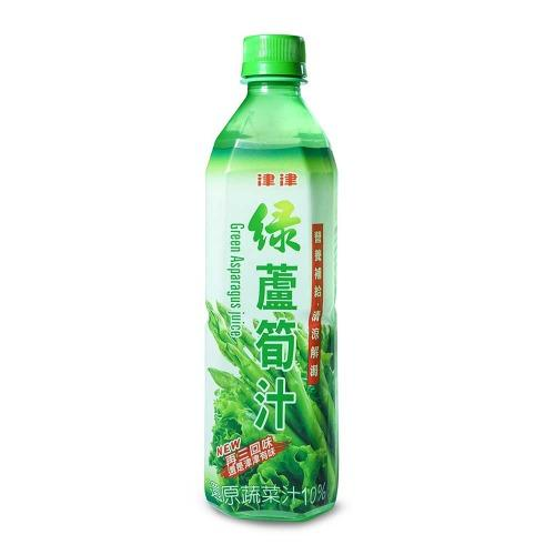 津津 綠蘆筍汁 600gX24瓶/箱