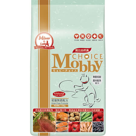 莫比自然食 Mobby  鹿肉鮭魚貓無穀配方6.5kg
